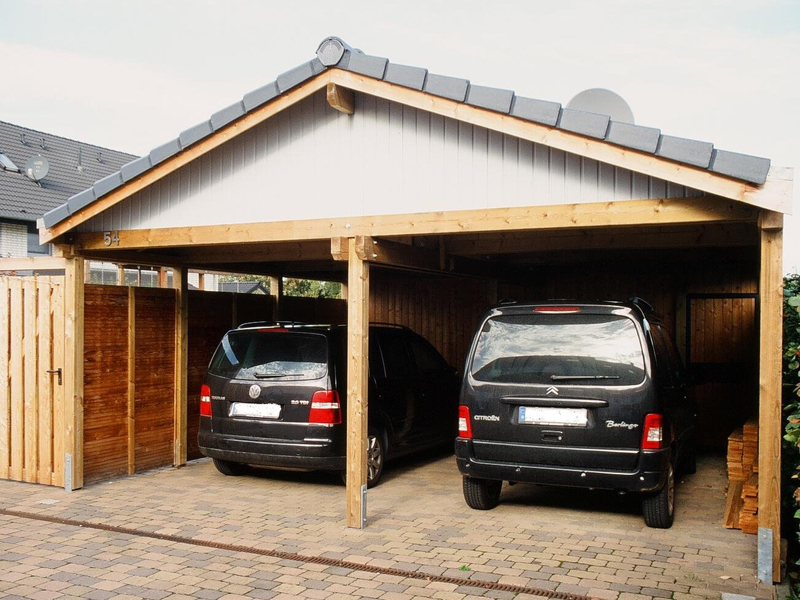 ihr carport aus holz c k carports aus detmold in. Black Bedroom Furniture Sets. Home Design Ideas